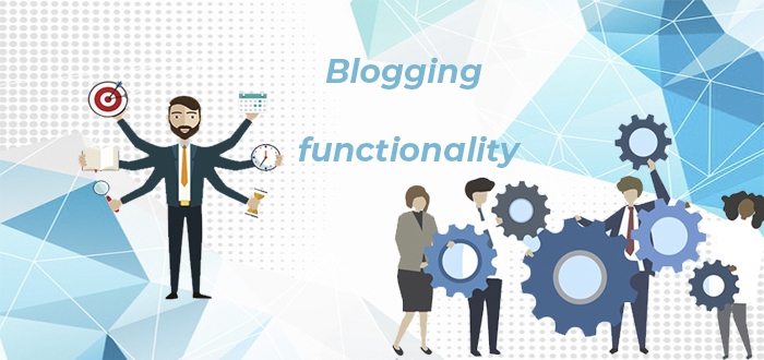 blogging and functionality