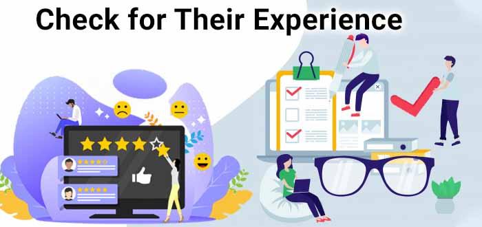 Check seo company experience