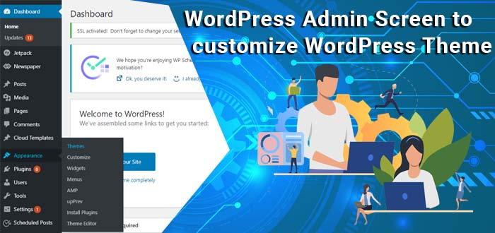 WordPress Admin Screen to customize WordPress Theme